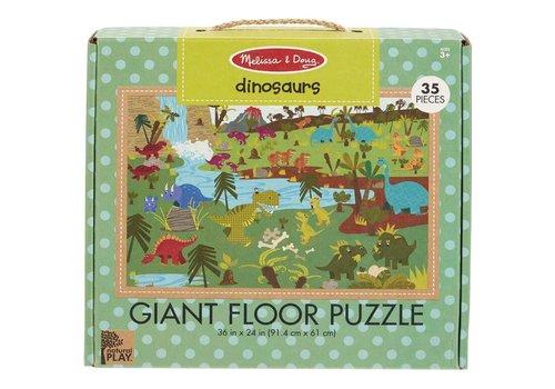 Melissa & Doug Natural Play™ Floor Puzzle─Dinosaurs - Casse-tête de plancher, dinosaures