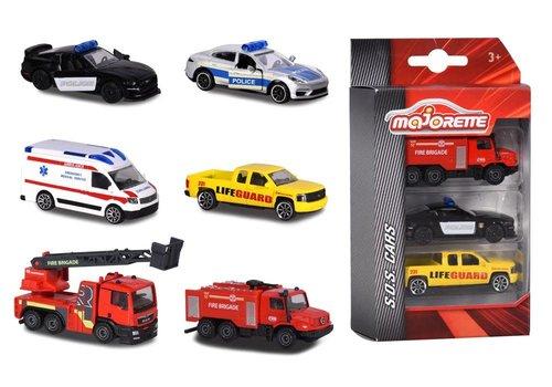 Majorette S.O.S. Ensemble 3 voitures
