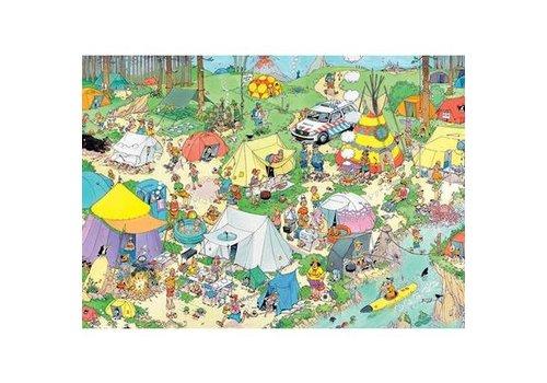 Jumbo Casse-tête 2000 morceaux, Camping nature