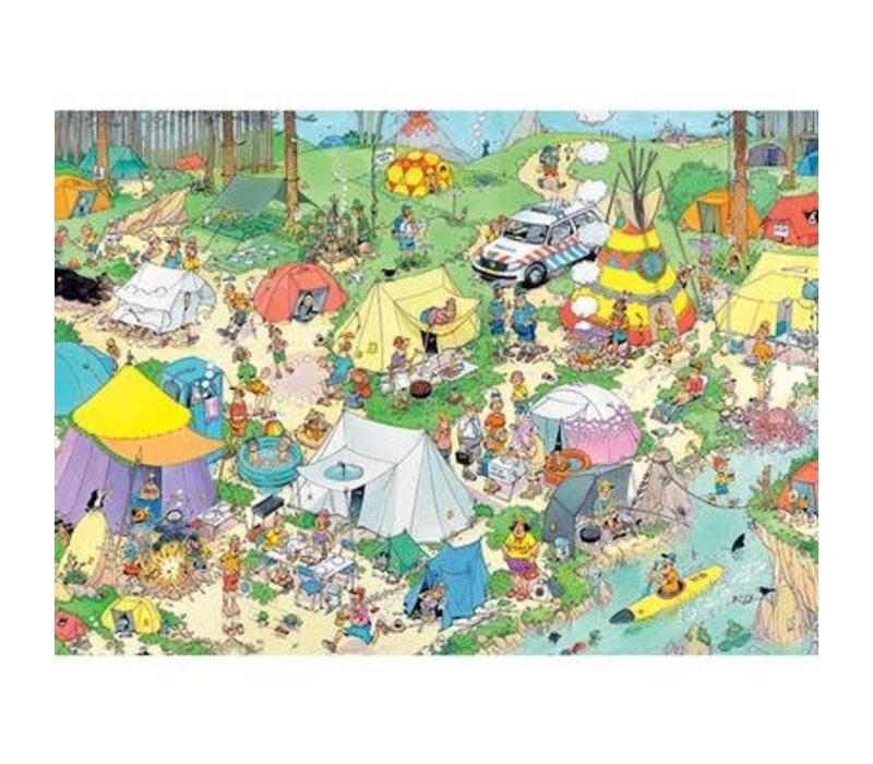 Casse-tête 2000 morceaux, Camping nature