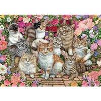 Casse-tête 1000 morceaux, Floral Cats