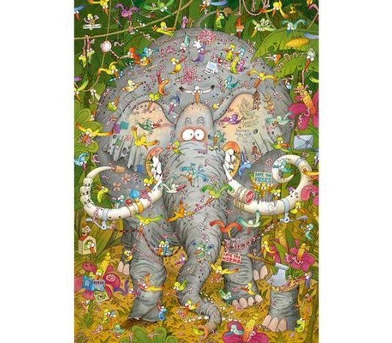 Casse-tête 1000 morceaux, Elephant's Life, Degano