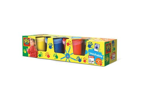 SES Peinture à doigts 4 couleurs x 150 ml