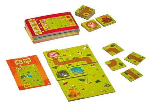 Blue Orange Pig Puzzle (multilingue)