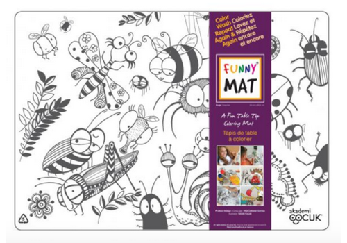 Funny Mat Napperon à colorier Insectes (transparent)