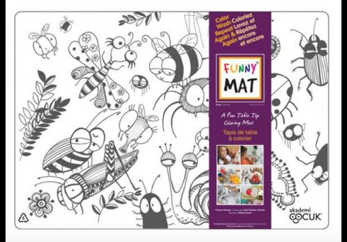 Funny Mat Napperon à colorier Insectes