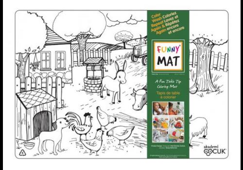 Funny Mat Napperon à colorier - Animaux de la ferme (Transparent)