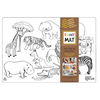 Funny Mat Napperon à colorier - Animaux Sauvages (Transparent)