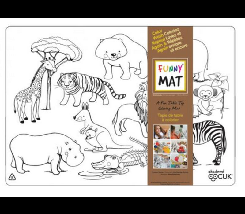 Napperon à colorier - Animaux Sauvages (Transparent)