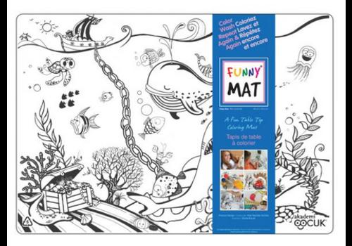 Funny Mat Napperon à colorier - Mer profonde (transparent)