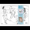 Funny Mat Napperon à colorier Hockey (Transparent)