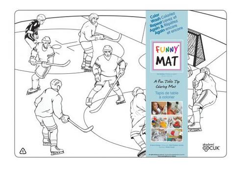 Funny Mat Napperon à colorier Hockey (Transparent)