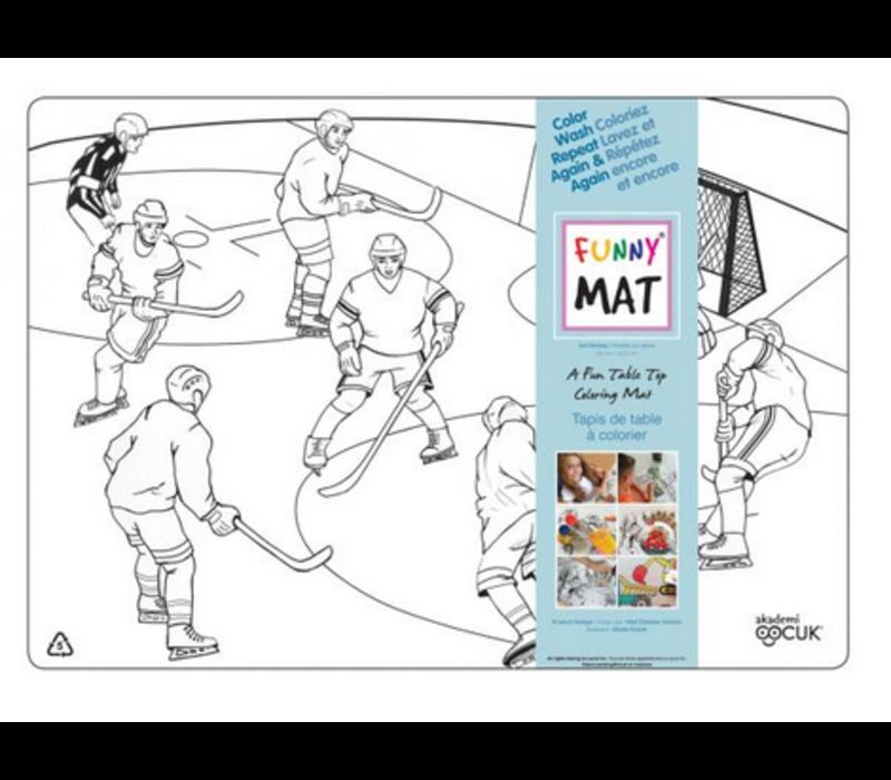 Napperon à colorier Hockey (Transparent)