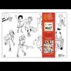 Funny Mat Napperon à colorier Sports (Transparent)