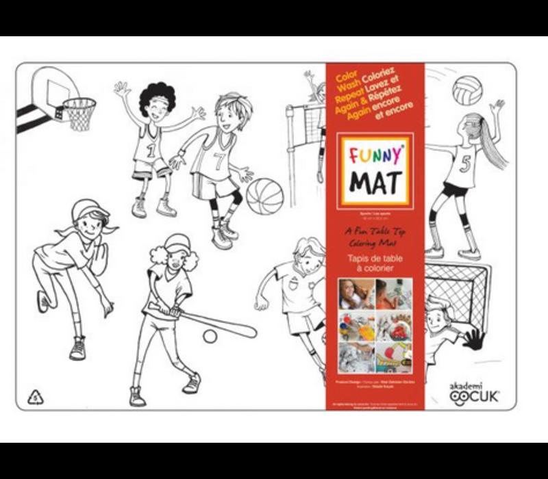 Napperon à colorier Sports (Transparent)
