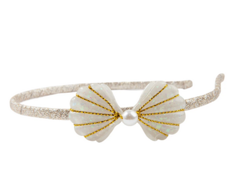 creative education Boutique Golden Mermaid Shell Headband