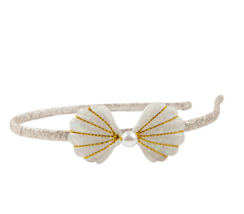 Boutique Golden Mermaid Shell Headband