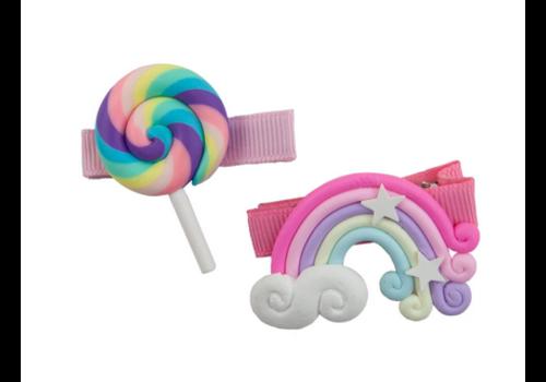 creative education Lollypop Rainbow Hairclips, 2 Pcs