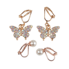 creative education Boutique Butterfly Clip On Earrings, 2 Sets