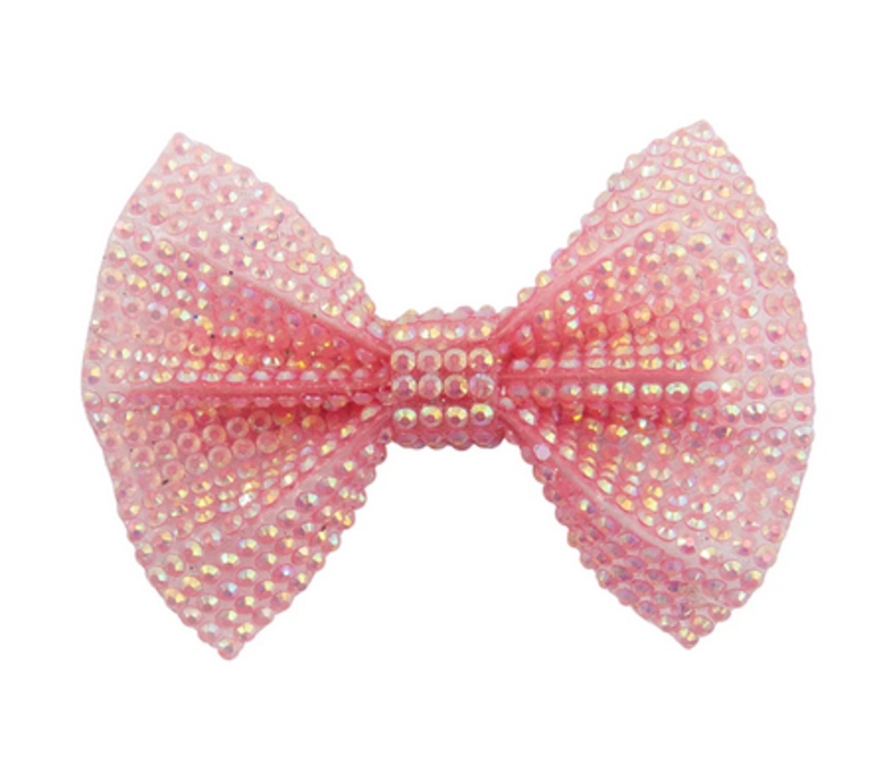 Boutique Pink Gem Bown Hairclip
