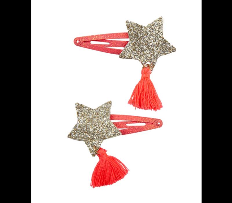 Boutique Sassy Tassy Star Hairclips, 2 Pcs