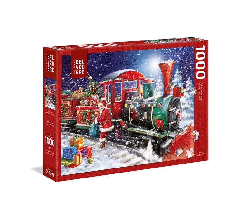 Casse-tête 1000 morceaux, Le train de Père Noël