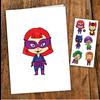 pico Carte de souhait - Les petites super-héroines