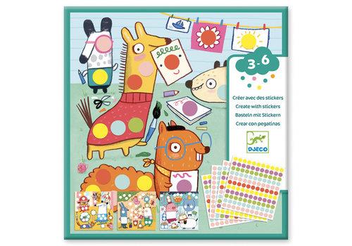 Djeco Stickers - Avec des gommettes rondes