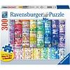 Ravensburger Casse-tête - Rubans colorés du bonheur - 300 morceaux larges