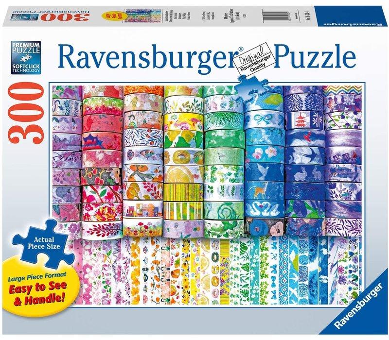 Casse-tête - Rubans colorés du bonheur - 300 morceaux larges
