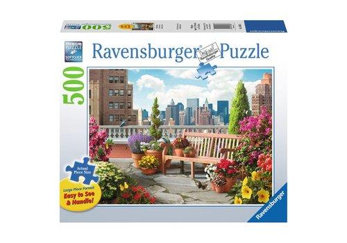 Ravensburger Casse-tête Jardin sur le toit - 500 morceaux large format