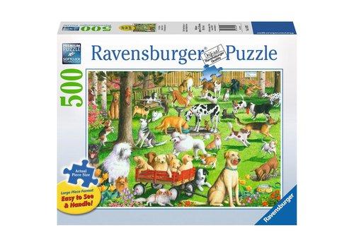 Ravensburger Au parc du chien 500 pc Large Format