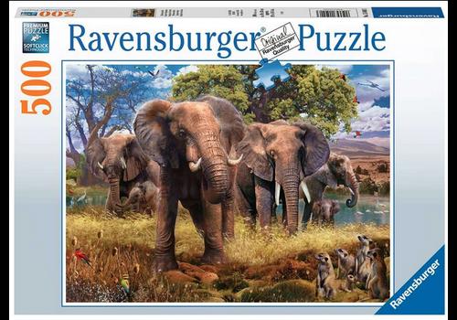 Ravensburger Famille d'éléphants 500 pc Puzzles