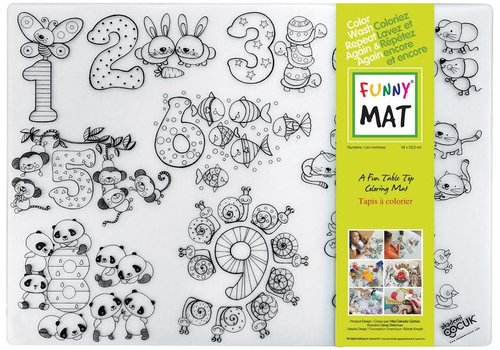 Funny Mat Napperon à colorier Nombres