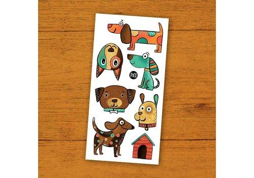 pico Tatouages temporaires- Les chiens coquins