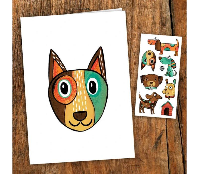 Carte de souhait - Les chiens coquins