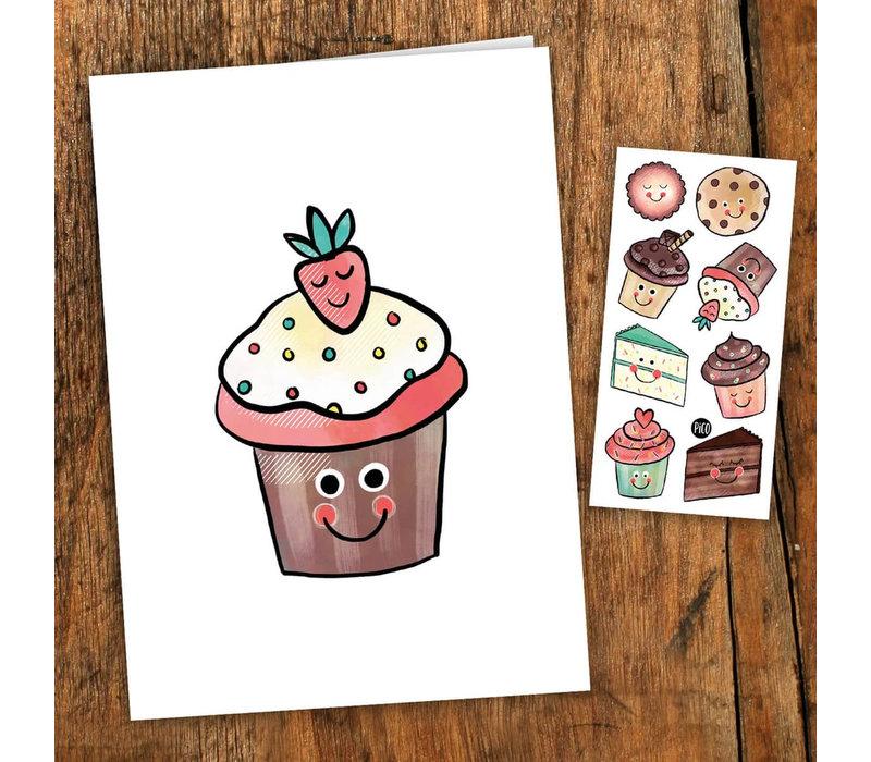 Carte de souhait - Les petits gâteaux