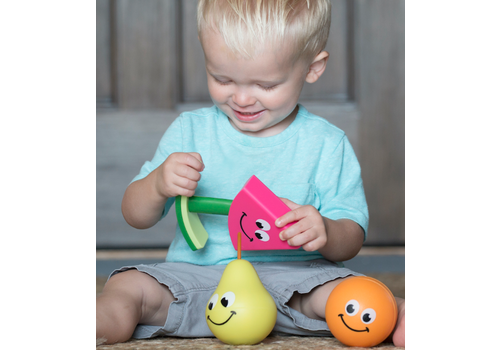 Fat Brain Toy Co. Fruit Friends 3-in-1 Toddler Toy