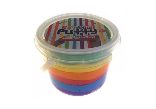 handee Products Rainbow putty in a tub