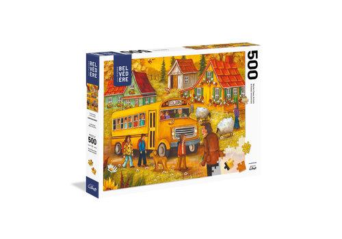 trefl Casse-tête 500 morceaux - C. Genest - L'autobus scolaire