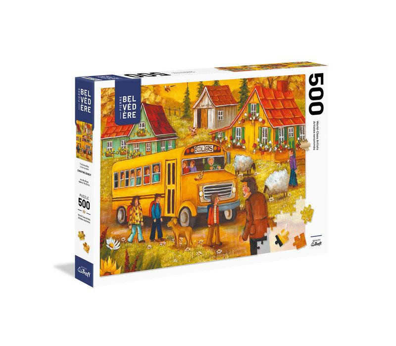 Casse-tête 500 morceaux - C. Genest - L'autobus scolaire