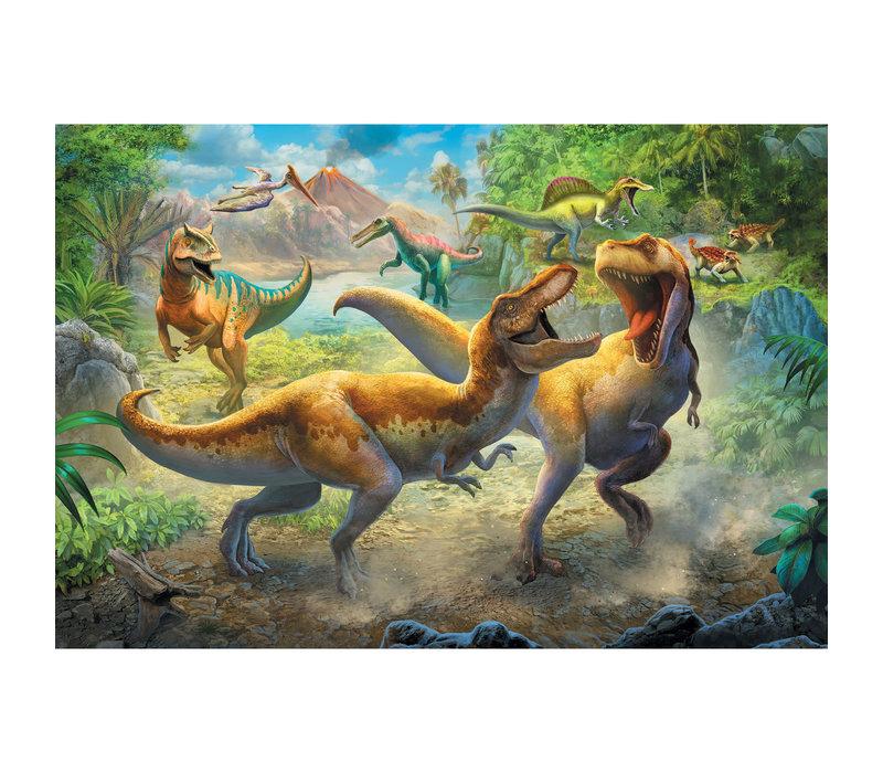 Casse-tête 160 morceaux - La bataille de dinosaures