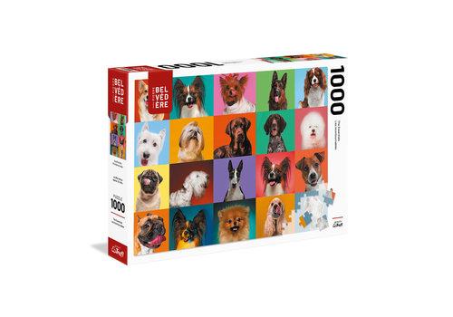 trefl Casse-tête 1000 morceaux - Portraits de chien