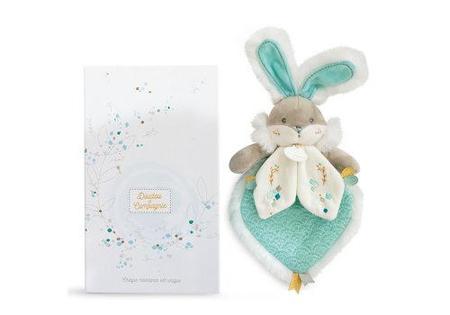 Doudou et Compagnie Almond Sugar Bunny Blanky  - 24 cm