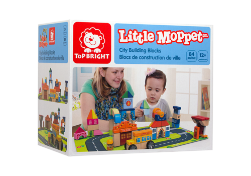 little moppets Blocs de construction de ville - 84 morceaux