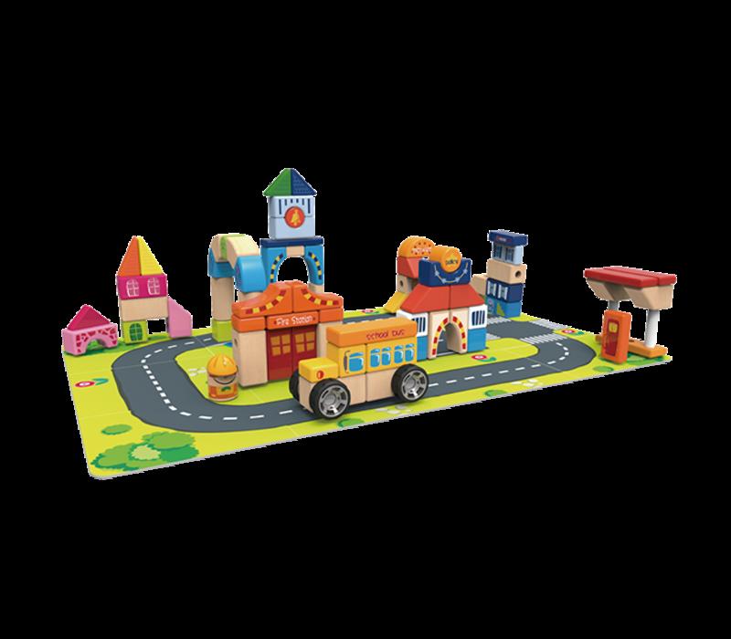 Blocs de construction de ville - 84 morceaux