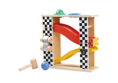 little moppets Little Moppet 2-in-1 Race Track with Pound Bench
