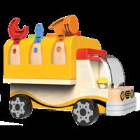 Camion avec établi rabattable