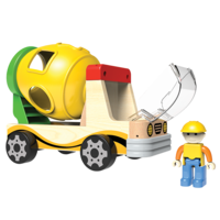 Camion malaxeur avec trieur de formes