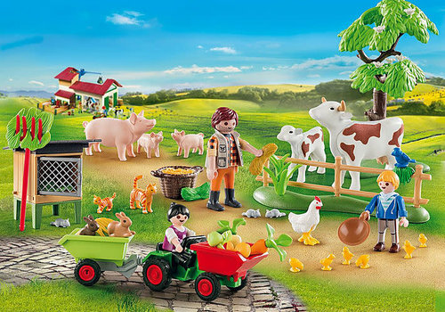 Playmobil Calendrier de l'avent Animaux de la ferme